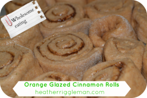Orange Glazed Cinnamon Rolls (with Freezer tips)
