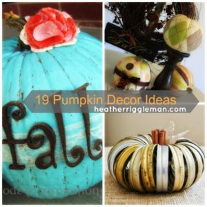 19 Easy Pumpkin Decor Ideas