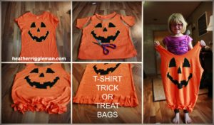 DIY TRICK OR TREAT T-SHIRT BAGS