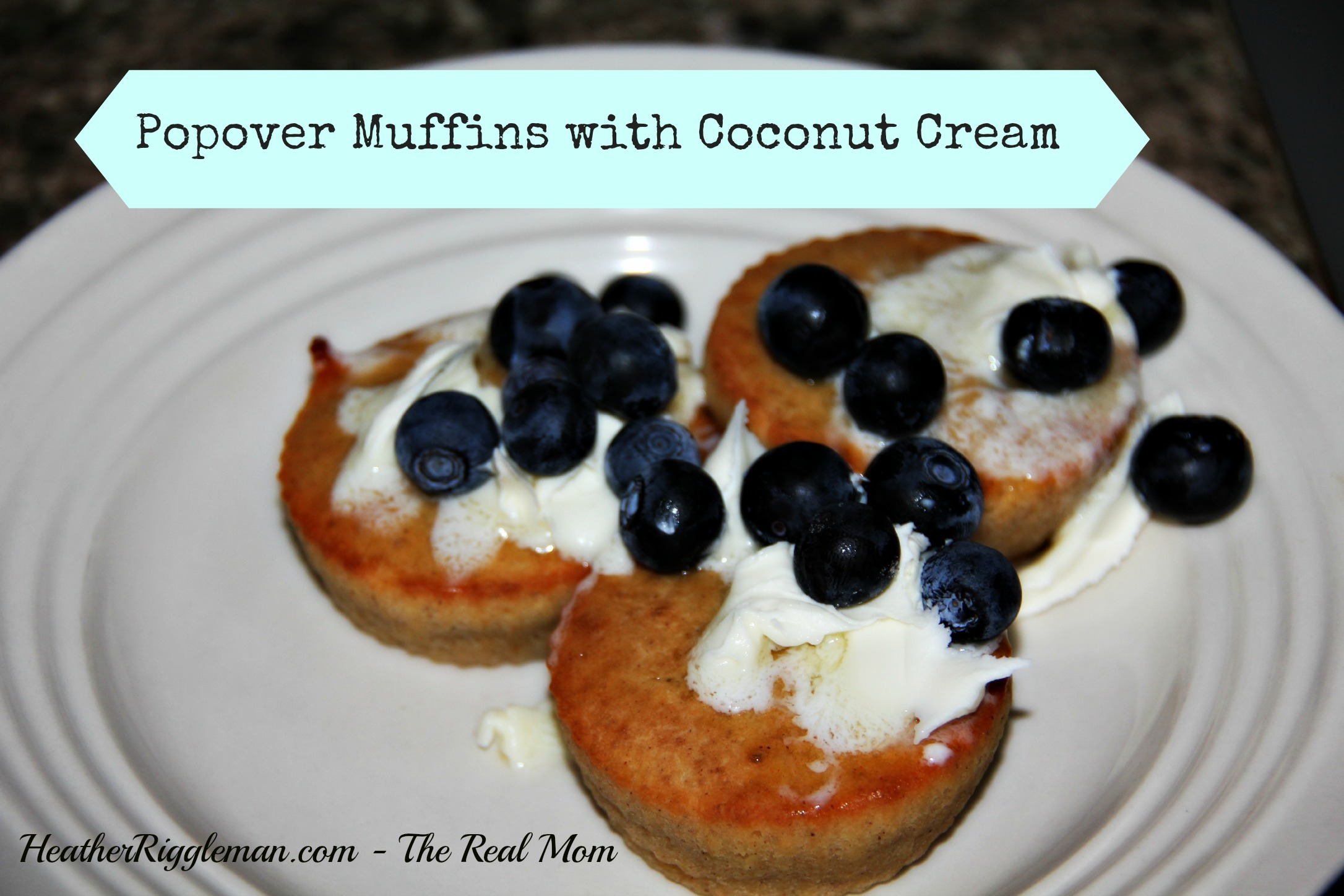 Popover Muffins with Coconut Cream Topping