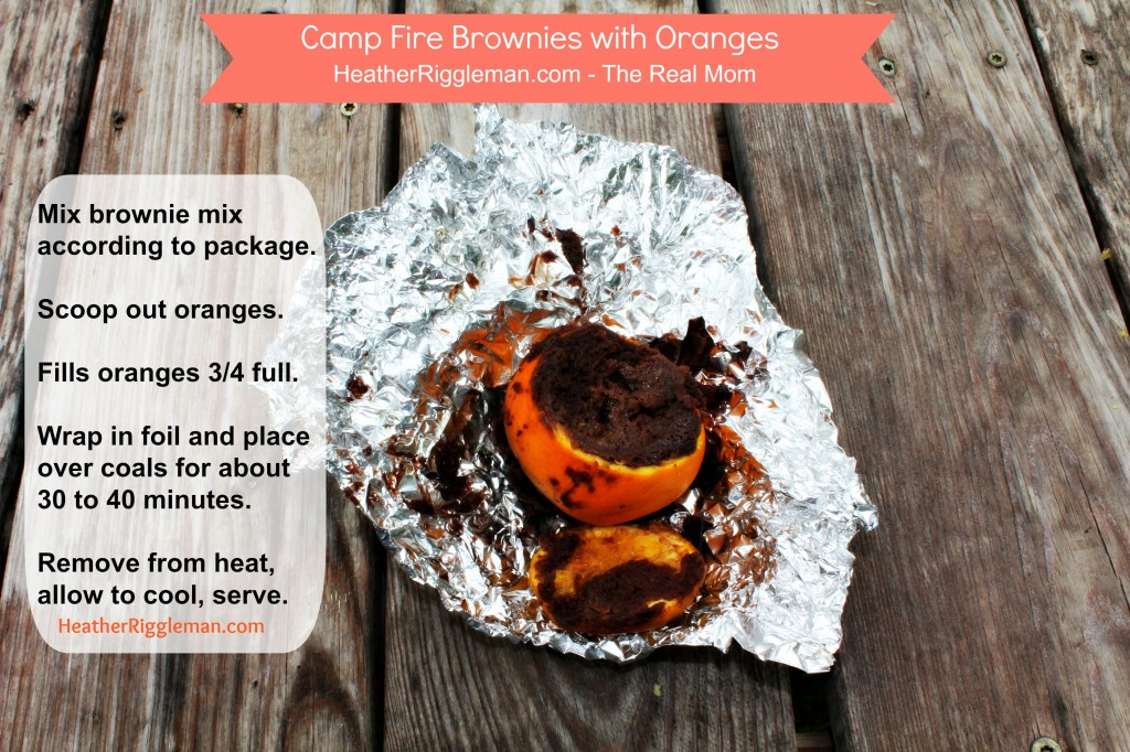 Camp fire brownies