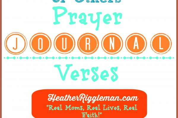 Prayer Journal Scriptures with the Kids–teaching Sensitivity
