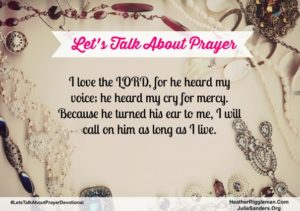 {Let's Talk Prayer} Day 1 – How do I pray when I'm distracted?