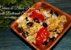Quinoa and Blackbeans with Butternut Squash