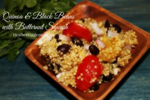 Quinoa & Black Beans with Butternut Squash – A perfect fall recipe
