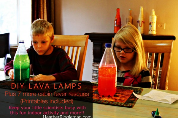 DIY Lava Lamps plus 7 other Cabin Fever Activities