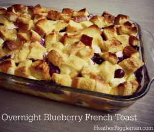 Overnight French Toast with Blueberries