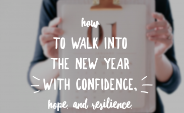 Walk into the new year with gutsyness